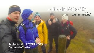 Arderin 1729ft 527m Co Offaly & Co Laois Ireland | walking in a Hat knittingILove