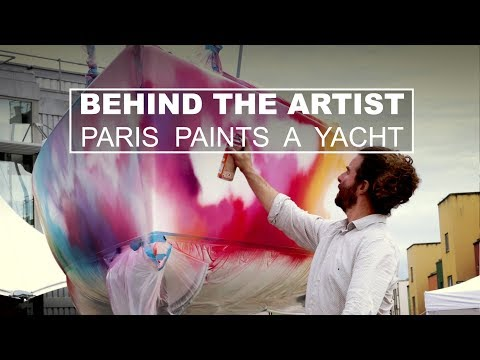 Behind The Artist: Paris graffiti paints a yacht in Portishead