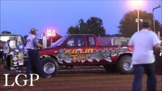 Pro Stock Four Wheel Drive Trucks At Jackson, TN (6/11/16)