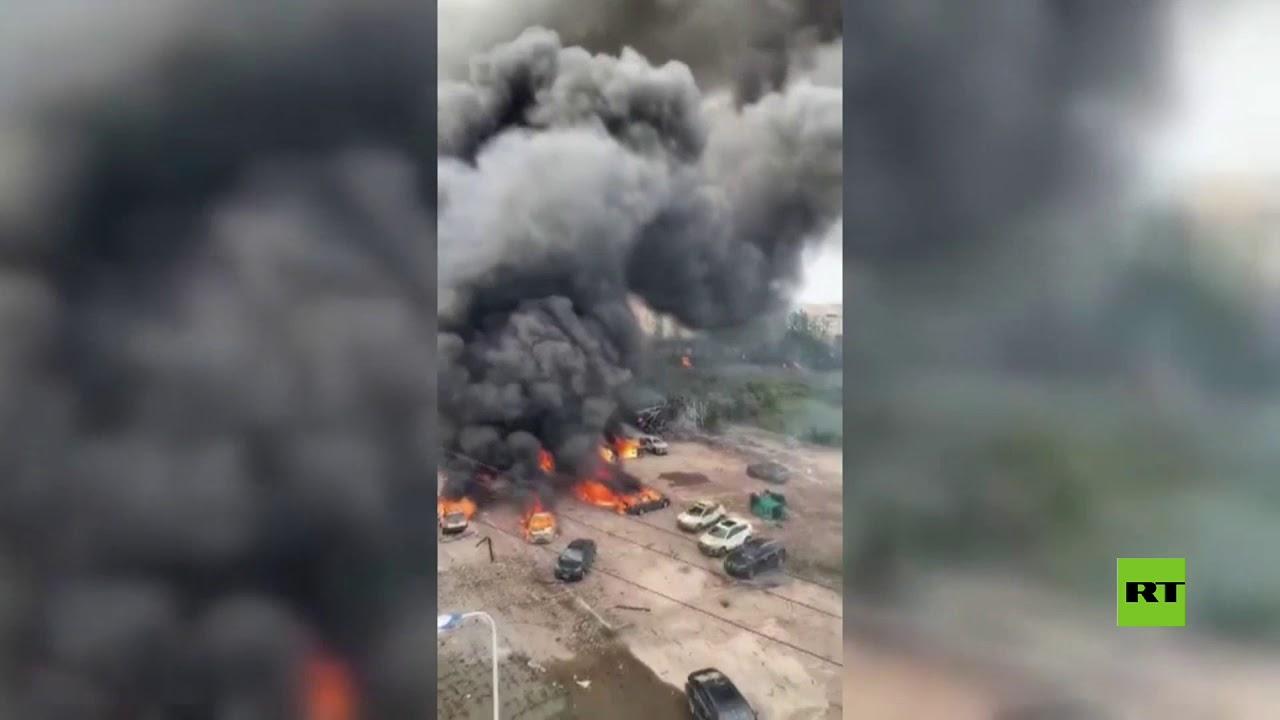 انفجار هائل لصهريج نفط أدى إلى انهيار عدد من المباني