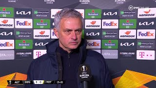 Jose Mourinho can't believe what he has just seen as Tottenham crash out of Europe to Dinamo Zagreb
