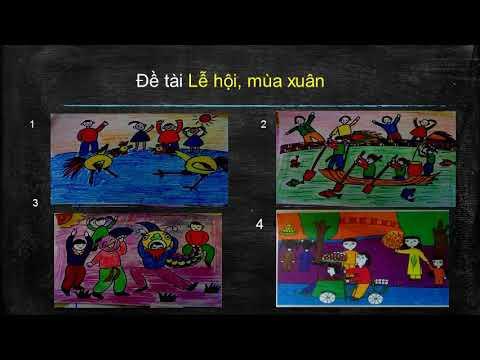 Mĩ thuật lớp 3 tuần 23 Bài vẽ tranh đề tài tự do.