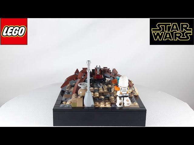 Lego Star Wars MOC on Utapau | 212th Trooper vs. custom LM-432 Crabdroid