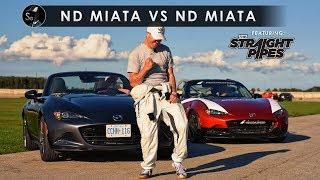 2019 Mazda Miata vs MX-5 Cup Car | TheStraightPipes Included