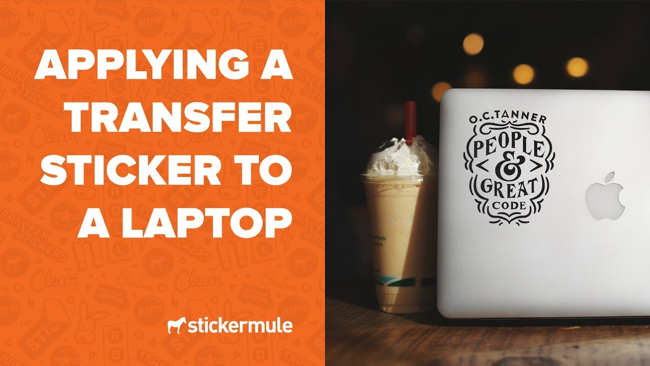 Applying custom transfer stickers to your laptop