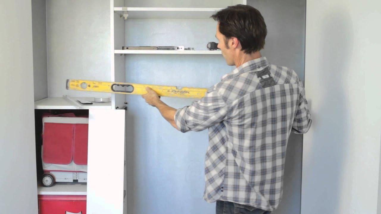 How To Install Shelving To Maximize Closet Storage : Home Storage U0026  Organizing   YouTube