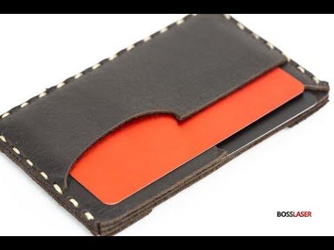 Laser Cut Leather Card Holder / Wallet - Downloand File Free