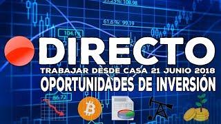 Directo: Oportunidades de inversión en bolsa - Bitcoin, Guerra comercial, Mundial 2018, Forex...