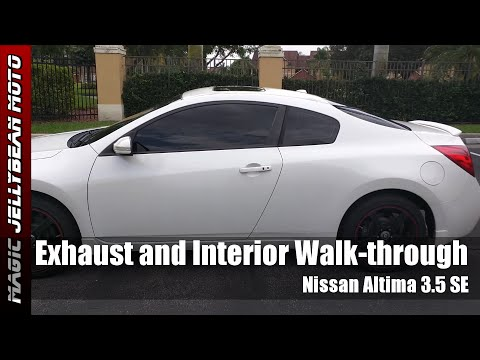 Nissan Altima Coupe 3.5 SE (Exhaust Muffler Delete and Interior Walkthrough)