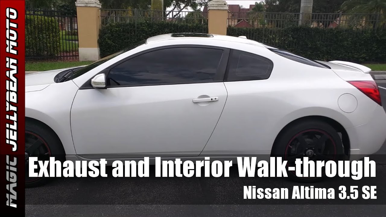 Nissan altima coupe 35 se exhaust muffler delete and interior nissan altima coupe 35 se exhaust muffler delete and interior walkthrough youtube vanachro Gallery