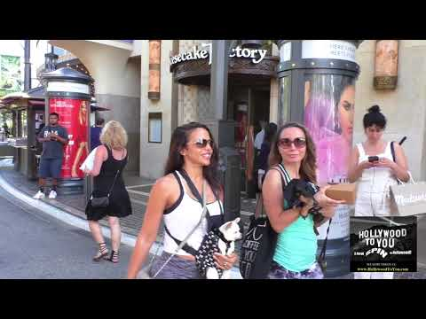 Vida Guerra talks about if she still does music videos while shopping at The Grove in Hollywood