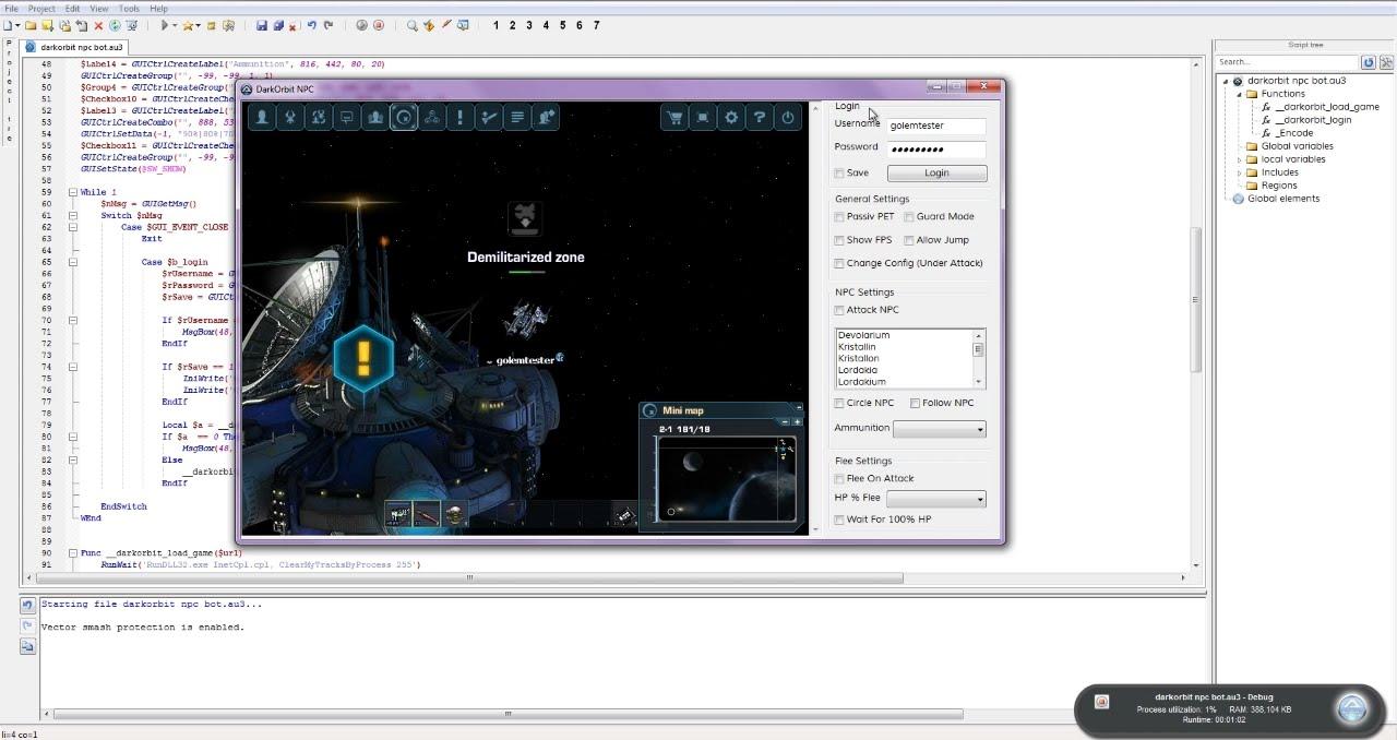 DarkOrbit: How To Make A NPC Bot [Part 2]