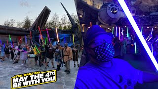 Star Wars Day May The 4th 2021 At Disney's Hollywood Studios   EPIC Lightsaber Meet Up With Ahsoka
