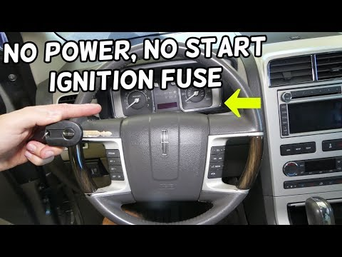 LINCOLN MKX IGNITION FUSE LOCATION REPLACEMENT. GAUGES NOT WORKING CAR NOT STARTING