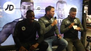 LAWRENCE OKOLIE CLAIMS 'PRIME' SPOT IN JOSHUA v KLITSCHKO UNDERCARD - FULL DRAW WITH BELLEW & HEARN
