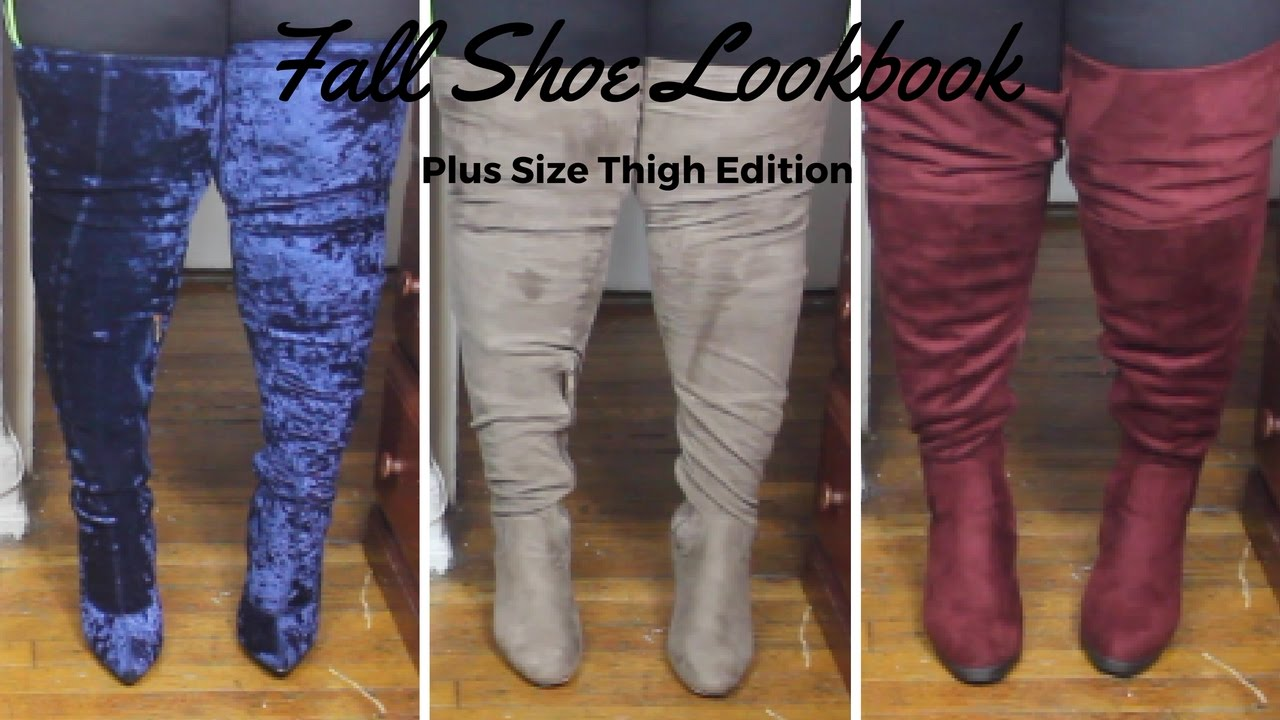 fall shoe haul 2016 thigh highs for plus size big calves