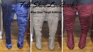 Fall Shoe Haul 2016| Thigh Highs for Plus Size/Big Calves