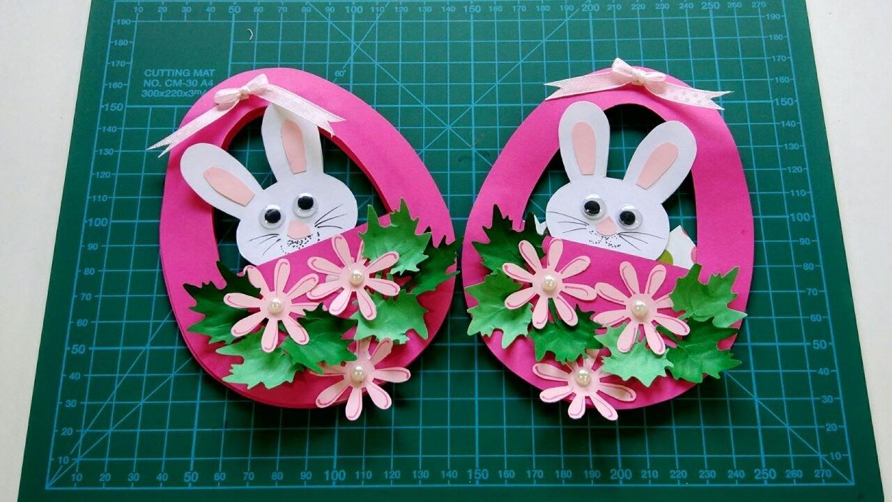 Easter Greeting Card Tutorial Handmade Diy Easter Egg Youtube