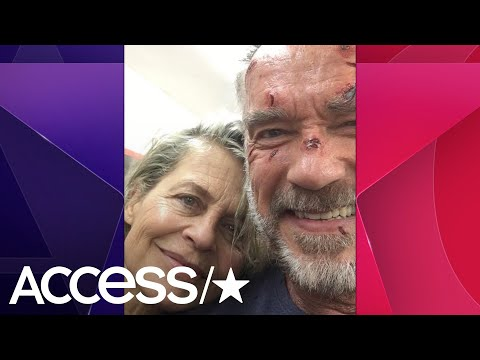 Arnold Schwarzenegger & Linda Hamilton Reunite On The Set Of 'Terminator 6'