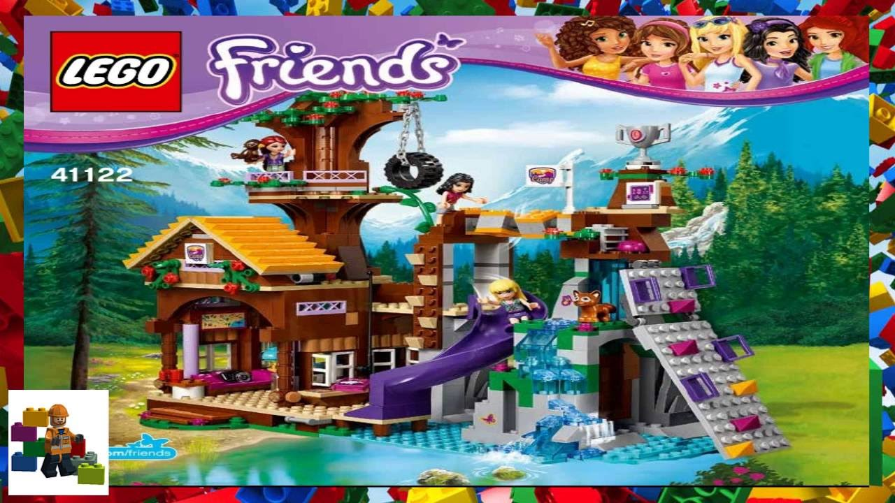 lego instructions lego friends 41122 adventure camp tree house rh youtube com LEGO Friends Sets LEGO Friends Stable