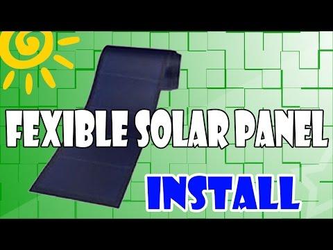 Roof Top Install Flexible Solar Panel DIY