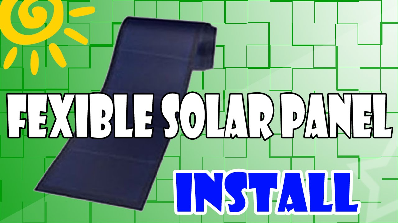 Roof Top Install Flexible Solar Panel Diy Youtube