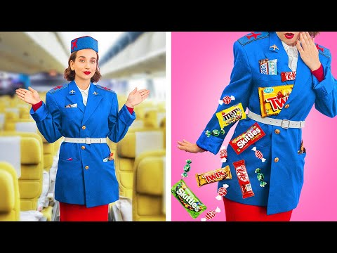 Как пронести сладости в самолёт / Смешные трюки с едой