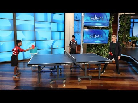 Download Ellen Meets Table Tennis Champion Siblings Images