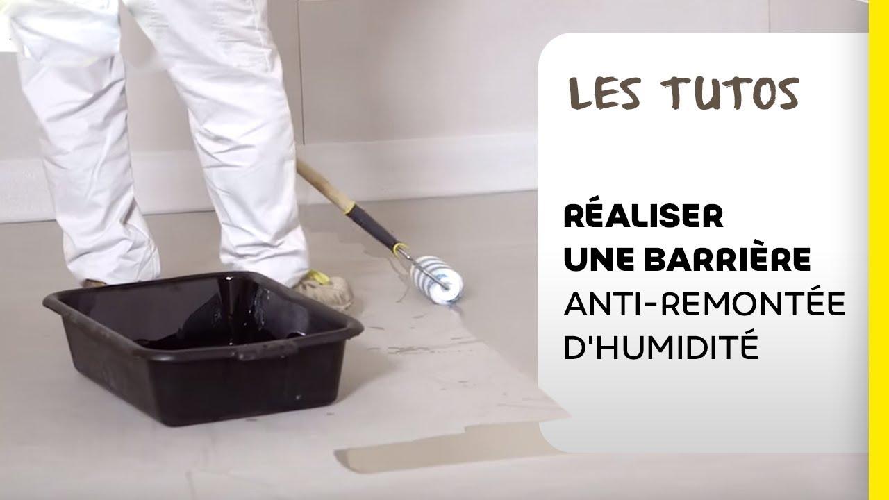Comment Realiser Une Barriere Anti Remontee D Humidite Sous Le Sol Les Tutos Weber Youtube