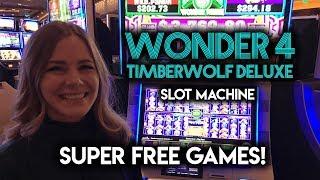 Wonder 4 TIMBERWOLF SUPER FREE GAMES! Can the curse be broken?