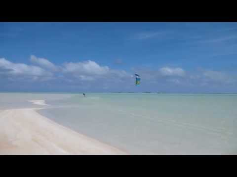 Kiteboarding in Rangiroa, Tuamotus