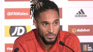 Ashley Williams Press Conference Ahead Of Wales' Match Against Spain