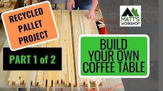 Recycling Pallets to Make a Coffee Table