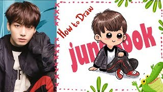 How To Draw and Colour  BTS' Jungkook~ step by step