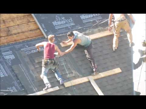 Roofers Without Safety Harnesses - Calgary, Alberta Canada