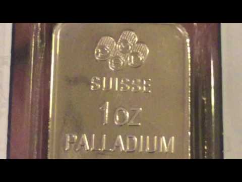 Stacking Metals: First Palladium - 1 oz PAMP Suisse Bar