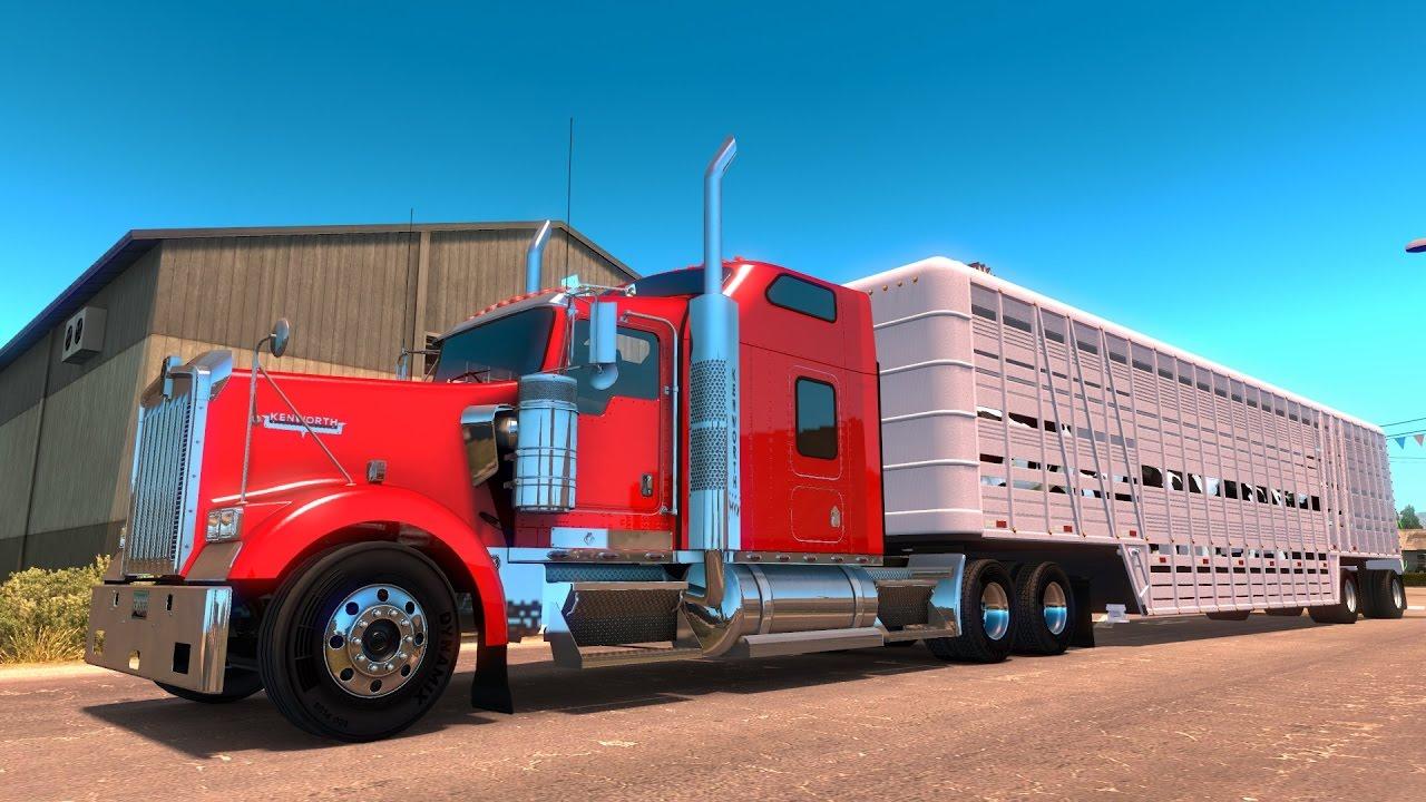 Ganadera Camión Truck American Con Dream28 Jaula Simulator VacasNuevo rtChQds