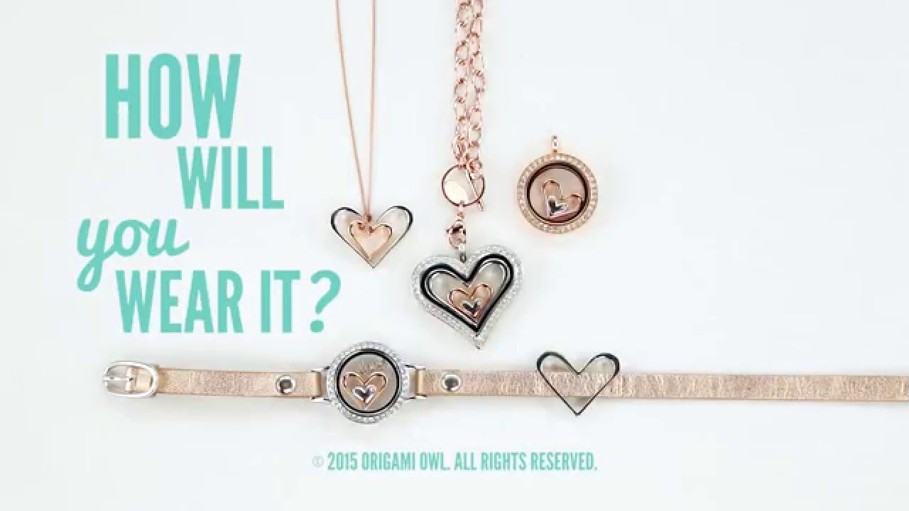 how to wear nesting hearts by origami owl youtube