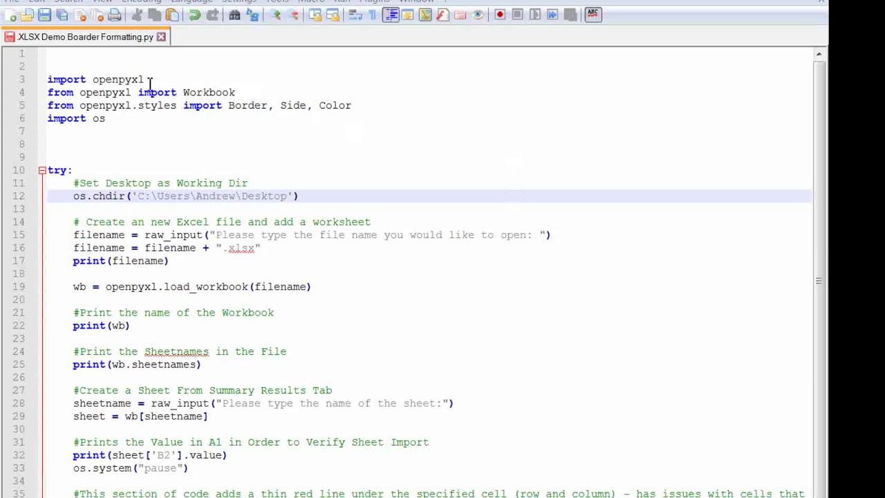 Python Openpyxl Cell Formatting  XLSX Boarders