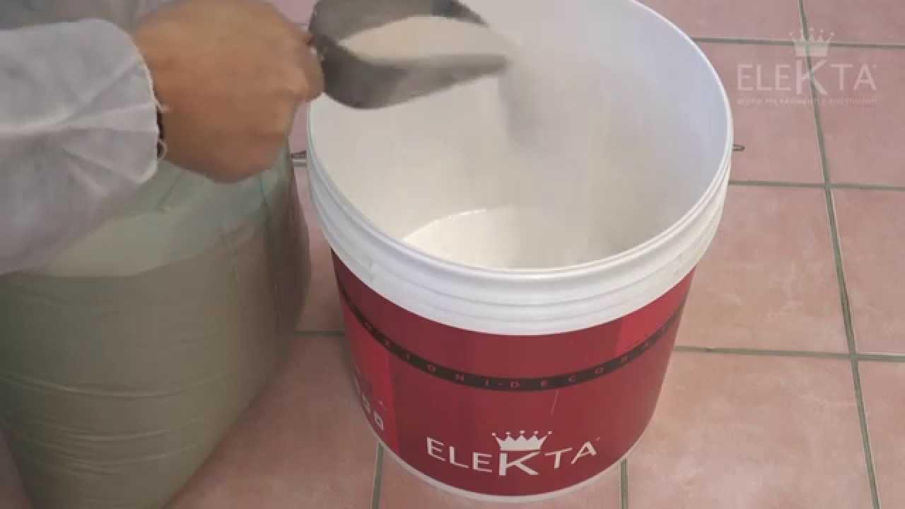 Preparazione supporto parete verticale in piastrelle fuga for Resina elekta