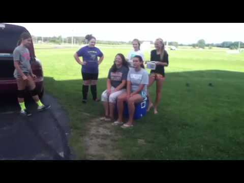 Tippecanoe Valley Middle School volleyball coaches taking the ALS Ice Bucket challenge