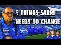 5 Things Sarri Needs To Change NOW! || Wolves 2-1 Chelsea