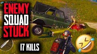 ENEMY SQUAD STUCK INSIDE CAR!!!! | 17 KILLS | PUBG Mobile