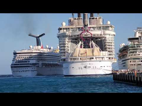 Carnival Glory crash Cozumel 12-20-19