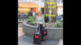 Disney World Vlog. Travel day to Orlando 2018 ..Walt Disney World we are coming!