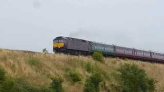 47237 + 70013`Oliver Cromwell` 5z81 ECS move @ Newton st Loe, Bath 03-08-13