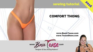 Comfort thong sewing tutorial for exotic dancers and strippers. Learn to make your comfort thong #24