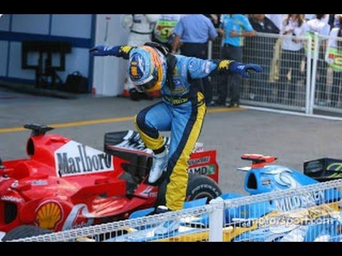 fernando alonso Onboard SPA 2008 last lap - epic driving-