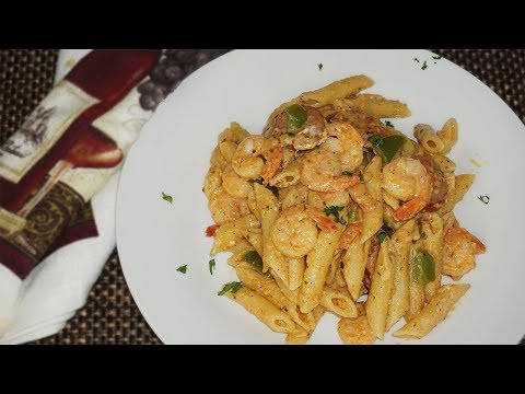 Super EASY Cajun Shrimp And Sausage Pasta Recipe  How To Make Cajun Shrimp And Sausage