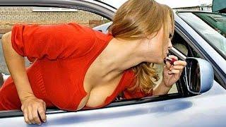Женщины за рулем, видео приколы с блондинками